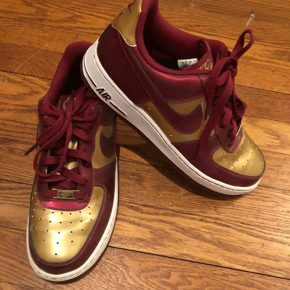 online retailer 71902 e9657 Nike Shoes - Nike Air Force One Red Gold
